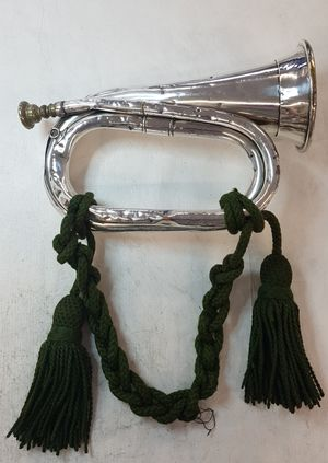 Military bugle made by G. Potter & Co.