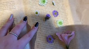 Crafting with preserved flowers